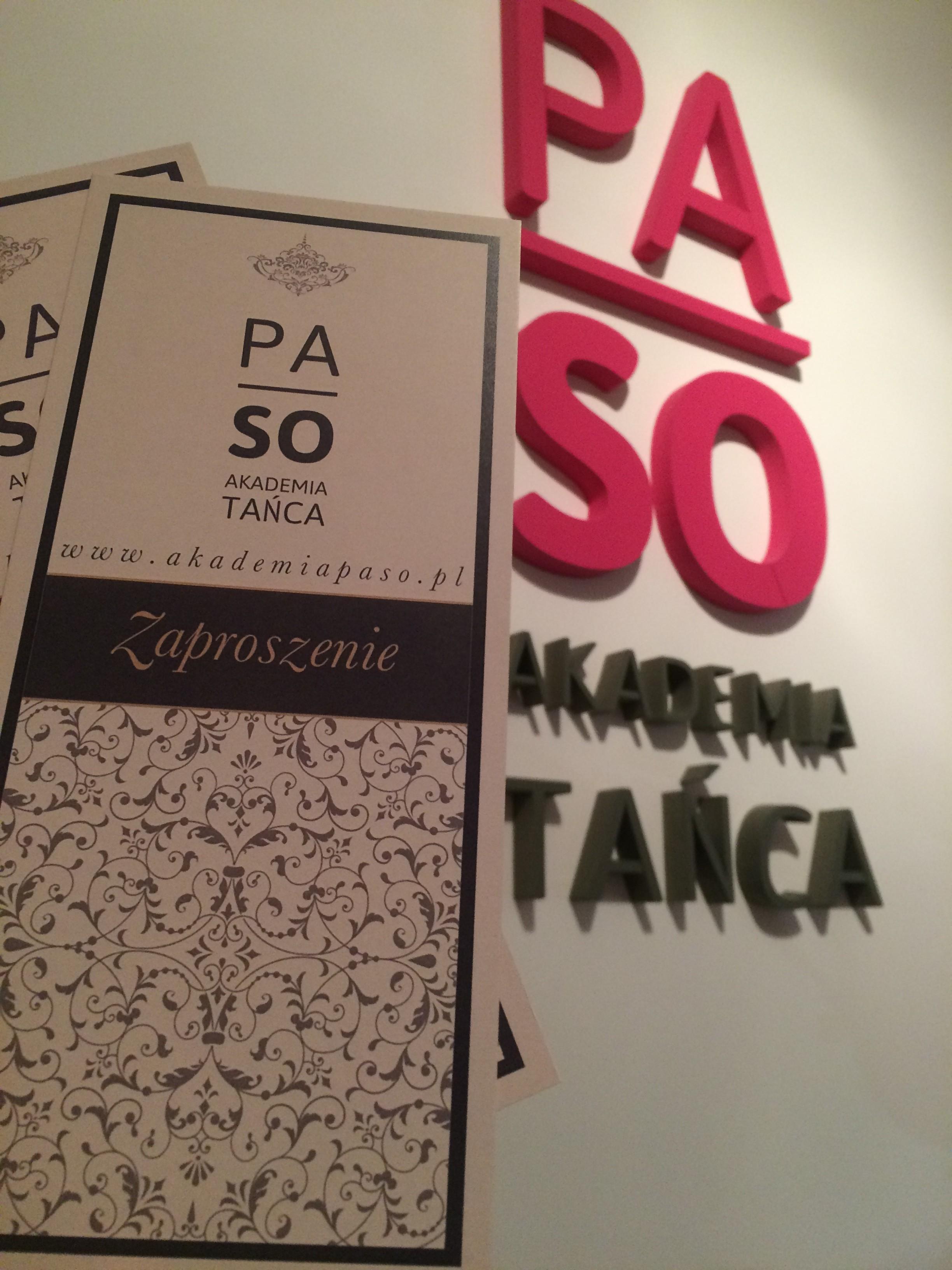 Zaproszenie Paso + logo